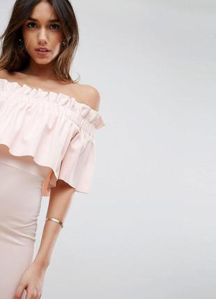 Ніжна сукня із шифону морквяного кольору з асиметричним подолом ... fadd70facd883