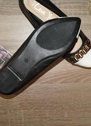 (37р./24см) george! стильные и комфортные туфли лодочки, балетки с цепочками3