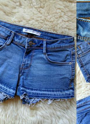 #326 джинсовые шорты с необработанным краем zara
