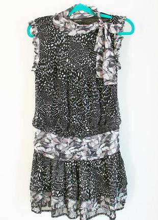 Шифоновое платье с заниженной талией