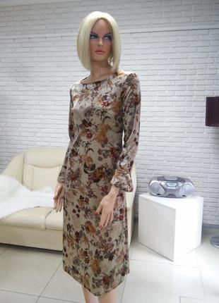 Красивое удлинённое платье миди италия распродажа