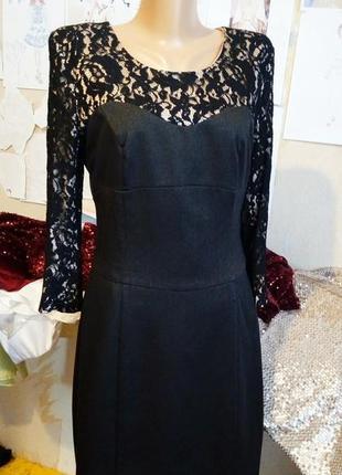 Красивое стильное платье bgl с французским кружевом-макраме