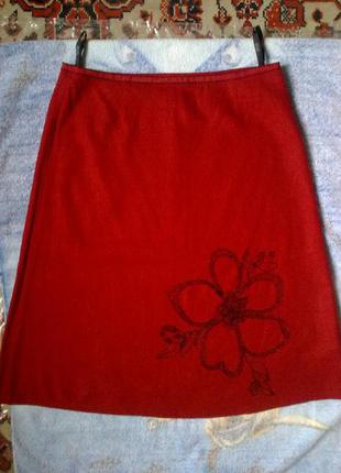 55%лен, юбка с бисерной вышивкой eve