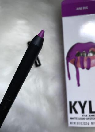 Оригинальный контурный карандаш для губ kylie pencil lip liner в оттенке june bug