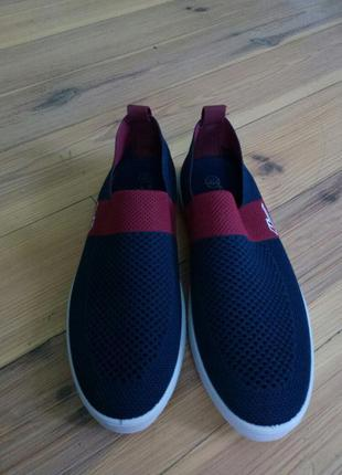 Летние слипы; обувь в сеточку; сине-бордовые слипы в сеточку; летняя обувь
