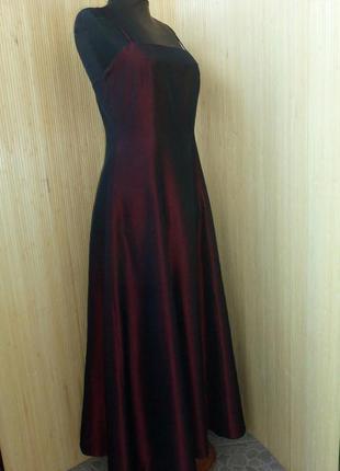 Вечернее классическое бордово красное платье2