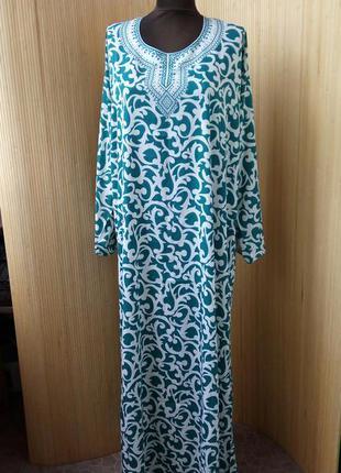 Длинное платье в восточном бо-хо стиле/ абая m/l