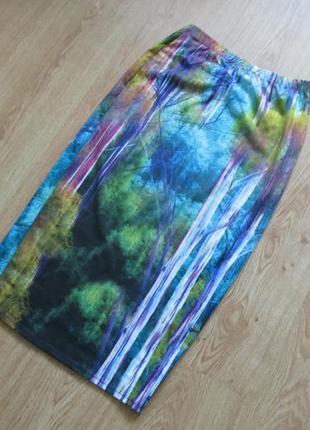 Макси юбка с изображенным лесом волшебным от topshop