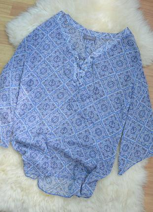 Шифоновая блуза со шнуровкой yessica