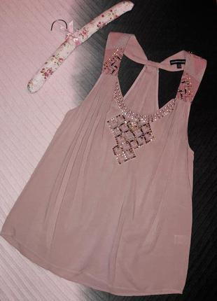 Роскошная летняя блуза с вышивкой и декором.вискоза