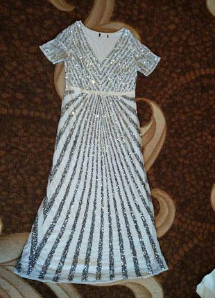 Asos plus size lovedrobe luxe роскошное блестящее макси-платье 6xl5