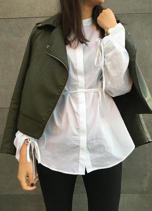 Белая рубашка h&m