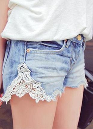 Модные коротенькие шортики с кружевом