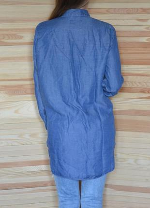 Рубашка джинсовая мужского кроя оверсайз ретро denim co сорочка джинсова3