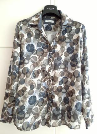 Стильная рубашка garry weber с абстрактным принтом