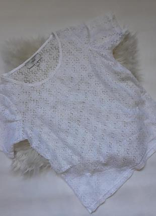 Ажурная прозрачная нежная кофта футболка