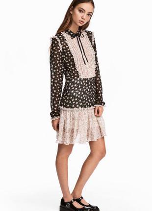 Платье из шифона с оборками h&m арт 515236