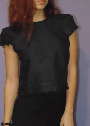 Необычная блузочка с бахромой с красивой спинкой