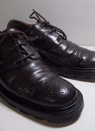 Натуральная кожа!качественные туфли  40р(26,5см_) германия!