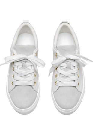 Кожаные дышащие кроссовки, замша/кожа, premium, h&m, 22 см