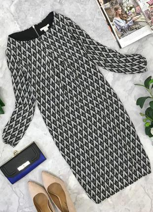 Платье прямого кроя с геометричным принтом   dr1823162  h&m