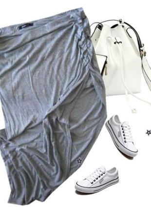 Легкая юбка ассиметрия размер 48-501
