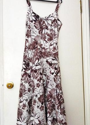 Летнее льняное платье от per una 12 р