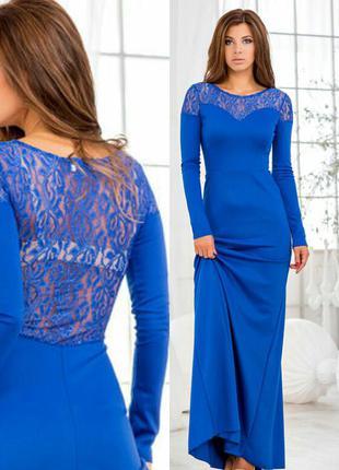 Шикарное силуэтное платье s-m
