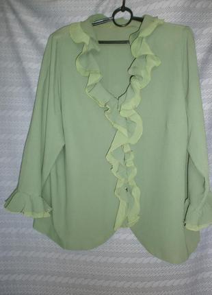 Нарядная блуза на даму с пышными формами-56р