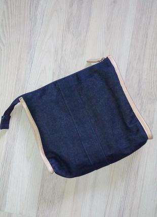 1+1=3🍧клатч косметичка сумка темный джинс от zara
