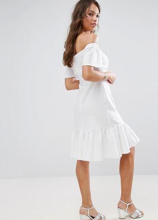 Asos club l ніжна біла сукня з вишивкою ASOS 464faa8beaedd