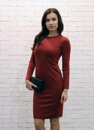 Трикотажное платье natella  терракотовое