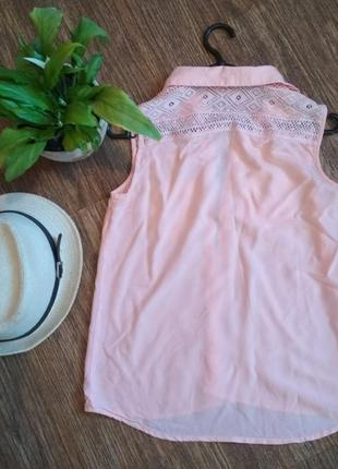 Летняя блуза персикового цвета2 фото