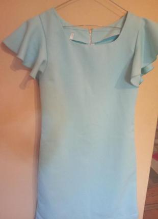 Очень нежное платье небесно-голубого цвета