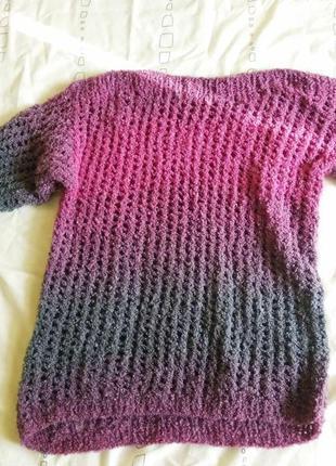 Вязаная кофта , свитер