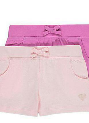 Набор трикотажных шорт для девочки george
