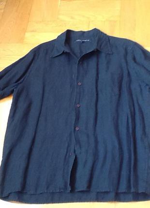 Фирменная рубашка лен