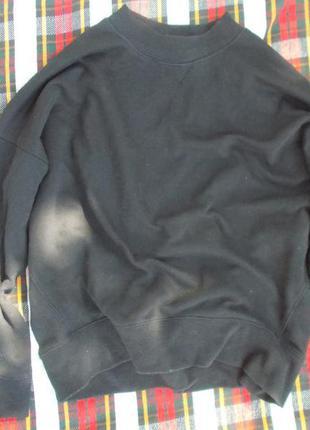 Черное худи new look свитшот толстовка оверсайз4