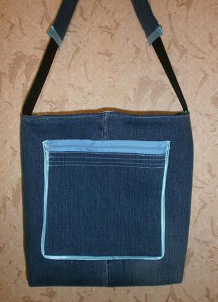 Джинсовая сумка ручнойработы