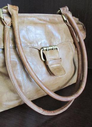 Кожаная сумка натуральная кожа