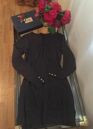 Теплое стильное платье f&f, размер с/м