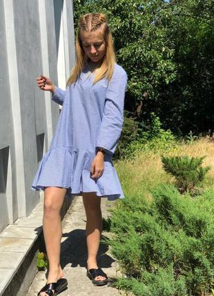 Платье в полоску zara