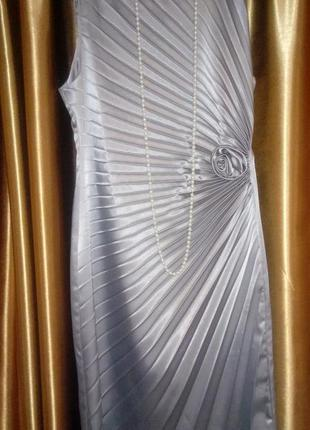 Шелковое платье плиссе