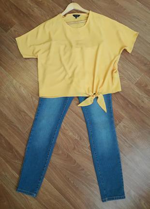 Желтая блеза футболка с коротким рукавом