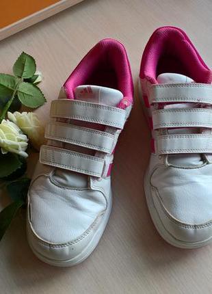Кросcовки adidas/белые/липучка/38 размер/оригинал