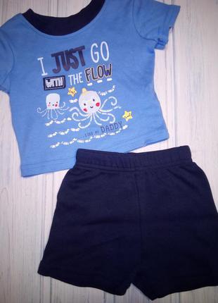 """Прелестный комплект шорты и футболка """"осьминожки"""", george, 52- 56"""
