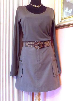 "Комплект ""s.oliver"" в стиле ""милитари"": юбка и джемпер - м."