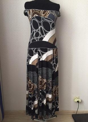 Летнее натуральное платье в пол большого размера (нем 42, укр 48-50) ashley brook