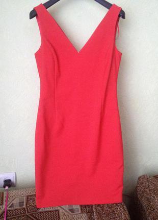 Zara красное платье, червоне плаття