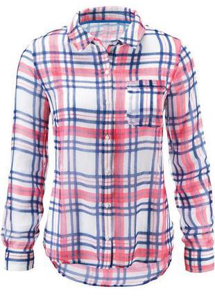 Клетчатая рубашка от tchibo р. евро 46
